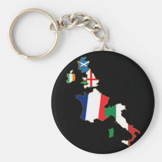 Six Nations Basic Round Button Key Ring