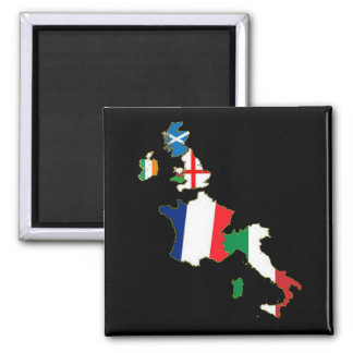 Six Nations Championship 11th series Square Magnet