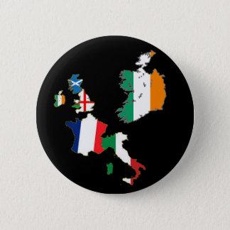 Six Nations Championship 11th series T-Shirt 6 Cm Round Badge