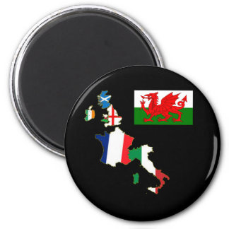 Six Nations Wales 6 Cm Round Magnet