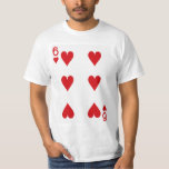 Six of Hearts Playing Card Tee Shirts