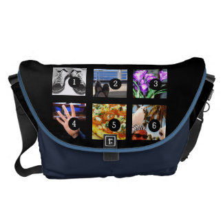 Six of Your Photos Make Your Own Momento Courier Bags