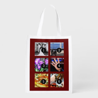 Six of Your Photos to Make Your Own Keepsake Market Totes