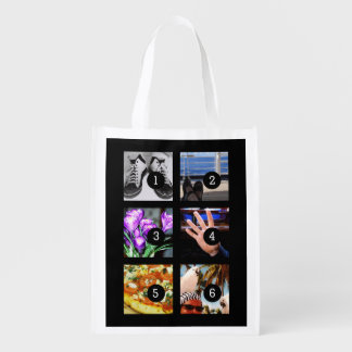 Six of Your Photos to Make Your Own Keepsake Market Tote