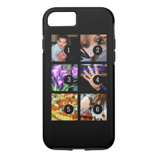 Six of Your Photos to Make Your Own Original Black iPhone 7 Case