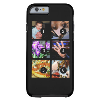 Six of Your Photos to Make Your Own Original Black Tough iPhone 6 Case