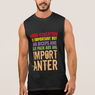 six pack abs are importanter funny jock t-shirt