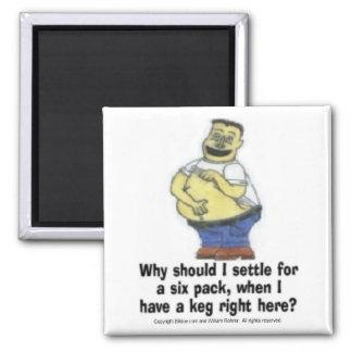 Six pack Keg Fridge Magnet