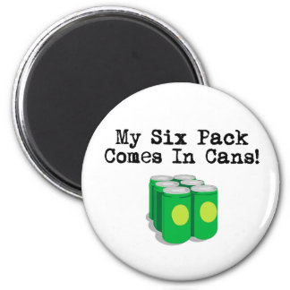Six Packs 6 Cm Round Magnet
