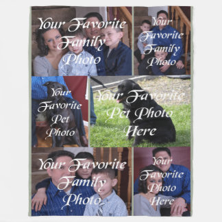 Six Panel Your Photo Here Fleece Blanket