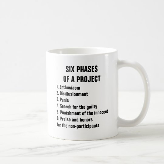 Six phases of a project 1. Enthusiasm 2.Disillusio