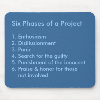 Six Phases of a Project Mouse Pad