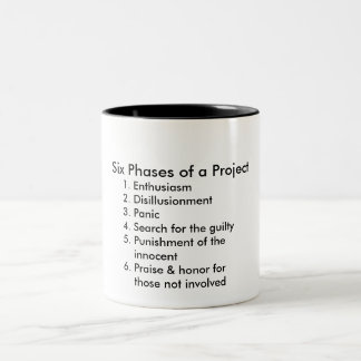 Six Phases of a Project Two-Tone Coffee Mug