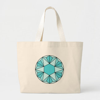 Six Pointed Star Gem3 Jumbo Tote Bag