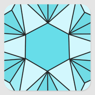 Six Pointed Star Gem3 Square Sticker