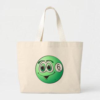 Six Pool Ball Cartoon Jumbo Tote Bag