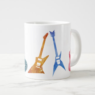Six Positively Electric Guitars Jumbo Mug