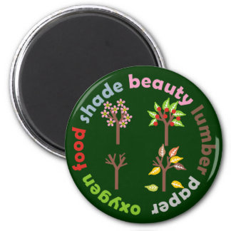 Six Reasons To Plant a Tree 6 Cm Round Magnet