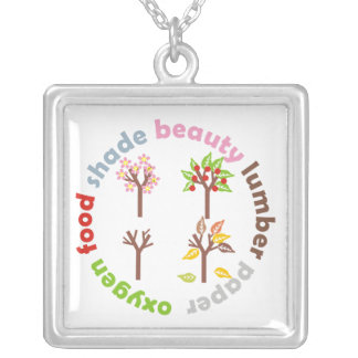 Six Reasons to Plant a Tree custom silver pendant