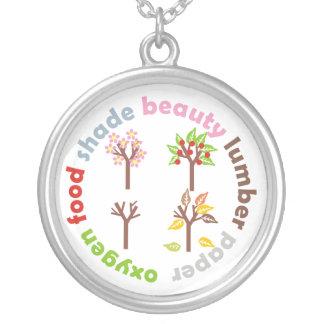 Six Reasons to Plant a Tree custom silver pendant
