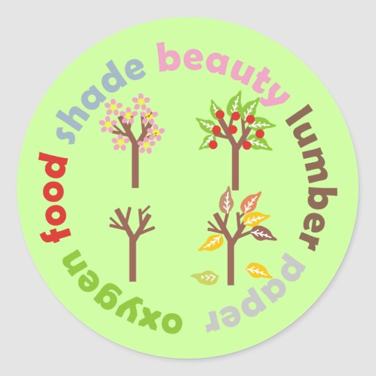 Six Reasons To Plant a Tree Round Sticker
