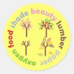 Six Reasons To Plant a Tree Round Sticker
