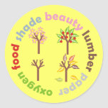 Six Reasons To Plant a Tree Round Stickers