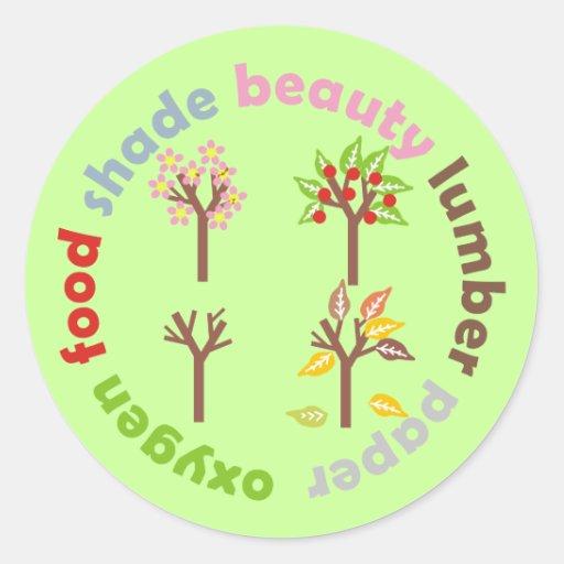 Six Reasons To Plant a Tree Sticker