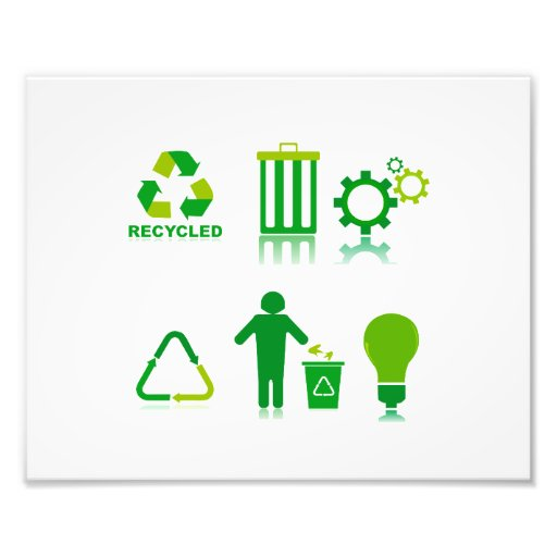 six recycling designs on one.png photographic print