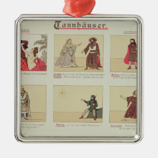 Six scenes relating to the opera 'Tannhauser' Christmas Ornament