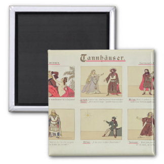 Six scenes relating to the opera 'Tannhauser' Square Magnet