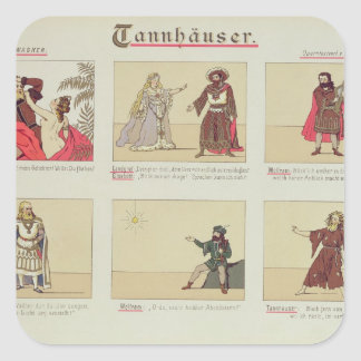 Six scenes relating to the opera 'Tannhauser' Square Sticker