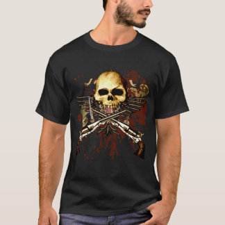 Six Shooters with skull T-Shirt