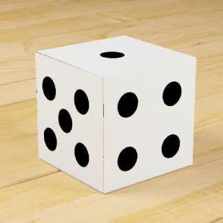 Six-Sided Die Dice Favor Box or Decoration