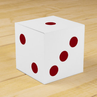Six-Sided Die Dice Favor Box or Decoration Party Favour Boxes