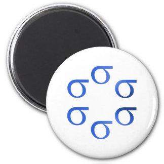 six sigma 6 cm round magnet