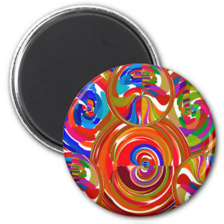 Six Sigma Circles - Reiki Color Therapy Plates V8 6 Cm Round Magnet