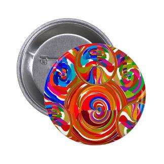 Six Sigma Circles - Reiki Color Therapy Plates V8 6 Cm Round Badge