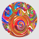 Six Sigma Circles - Reiki Colour Therapy Plates V8 Sticker