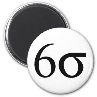 Six Sigma (Lean Six Sigma) 6 Cm Round Magnet