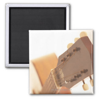 Six String Guitar Square Magnet