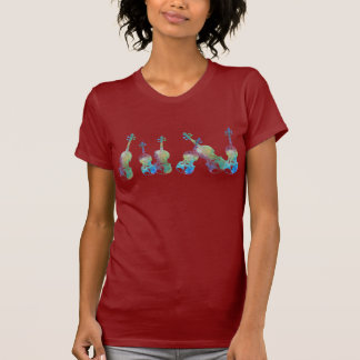 Six Watercolor Violins T-Shirt