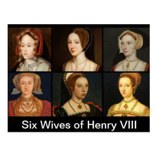 Six Wives of Henry VIII Postcard