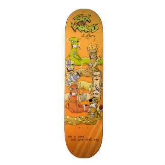 Six Worms of Glory custom skateboard deck, ver. 2