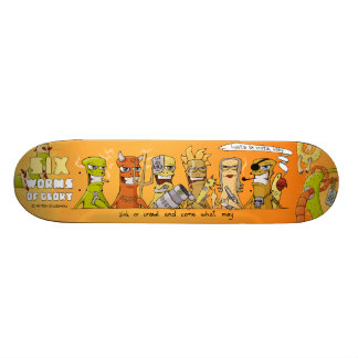 Six Worms of Glory skateboard: hasta la vista baby 18.1 Cm Old School Skateboard Deck