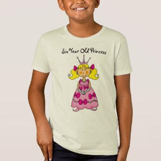 Six Year Old Princess Shirt