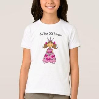 Six Year Old Princess T-shirt