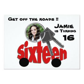 Sixteenth Birthday/ Car Keys 13 Cm X 18 Cm Invitation Card