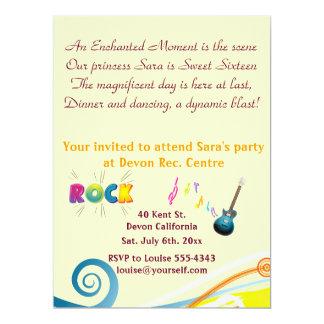 "Sixteenth Birthday invitation. 6.5"" X 8.75"" Invitation Card"