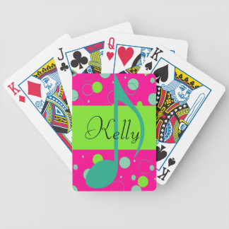 Sixteenth Note Musical Symbol Bicycle Playing Cards
